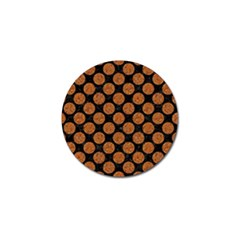 CIRCLES2 BLACK MARBLE & RUSTED METAL (R) Golf Ball Marker (10 pack)