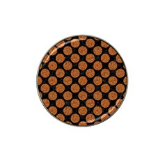 CIRCLES2 BLACK MARBLE & RUSTED METAL (R) Hat Clip Ball Marker