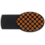 CIRCLES2 BLACK MARBLE & RUSTED METAL (R) USB Flash Drive Oval (4 GB) Front