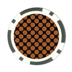 CIRCLES2 BLACK MARBLE & RUSTED METAL (R) Poker Chip Card Guard Back