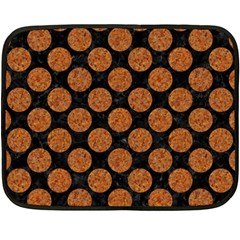 CIRCLES2 BLACK MARBLE & RUSTED METAL (R) Double Sided Fleece Blanket (Mini)