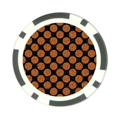 CIRCLES2 BLACK MARBLE & RUSTED METAL (R) Poker Chip Card Guard (10 pack)