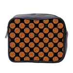 CIRCLES2 BLACK MARBLE & RUSTED METAL (R) Mini Toiletries Bag 2-Side Front