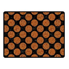 CIRCLES2 BLACK MARBLE & RUSTED METAL (R) Fleece Blanket (Small)