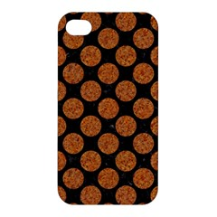 CIRCLES2 BLACK MARBLE & RUSTED METAL (R) Apple iPhone 4/4S Hardshell Case