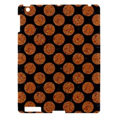 CIRCLES2 BLACK MARBLE & RUSTED METAL (R) Apple iPad 3/4 Hardshell Case
