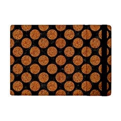 CIRCLES2 BLACK MARBLE & RUSTED METAL (R) Apple iPad Mini Flip Case