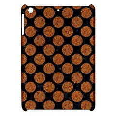 CIRCLES2 BLACK MARBLE & RUSTED METAL (R) Apple iPad Mini Hardshell Case