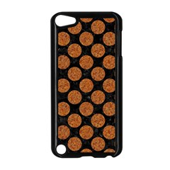 CIRCLES2 BLACK MARBLE & RUSTED METAL (R) Apple iPod Touch 5 Case (Black)