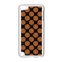 CIRCLES2 BLACK MARBLE & RUSTED METAL (R) Apple iPod Touch 5 Case (White)