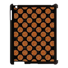 CIRCLES2 BLACK MARBLE & RUSTED METAL (R) Apple iPad 3/4 Case (Black)