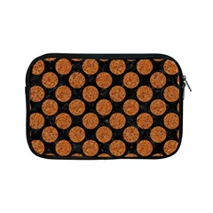 CIRCLES2 BLACK MARBLE & RUSTED METAL (R) Apple iPad Mini Zipper Cases