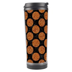 CIRCLES2 BLACK MARBLE & RUSTED METAL (R) Travel Tumbler