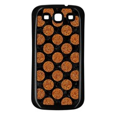 CIRCLES2 BLACK MARBLE & RUSTED METAL (R) Samsung Galaxy S3 Back Case (Black)