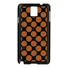 CIRCLES2 BLACK MARBLE & RUSTED METAL (R) Samsung Galaxy Note 3 N9005 Case (Black)