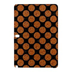 Circles2 Black Marble & Rusted Metal (r) Samsung Galaxy Tab Pro 12 2 Hardshell Case by trendistuff