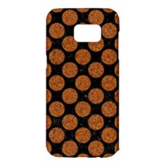 CIRCLES2 BLACK MARBLE & RUSTED METAL (R) Samsung Galaxy S7 Edge Hardshell Case