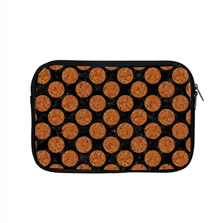 CIRCLES2 BLACK MARBLE & RUSTED METAL (R) Apple MacBook Pro 15  Zipper Case