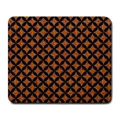 CIRCLES3 BLACK MARBLE & RUSTED METAL Large Mousepads