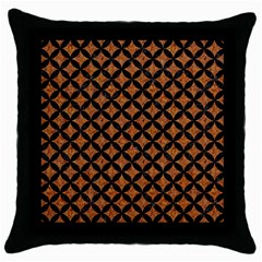 Circles3 Black Marble & Rusted Metal Throw Pillow Case (black) by trendistuff