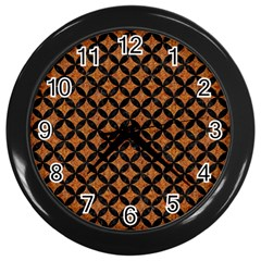 Circles3 Black Marble & Rusted Metal Wall Clocks (black) by trendistuff