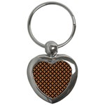 CIRCLES3 BLACK MARBLE & RUSTED METAL Key Chains (Heart)  Front