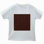 CIRCLES3 BLACK MARBLE & RUSTED METAL Kids White T-Shirts Front
