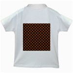 CIRCLES3 BLACK MARBLE & RUSTED METAL Kids White T-Shirts Back