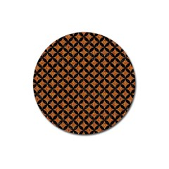 Circles3 Black Marble & Rusted Metal Magnet 3  (round) by trendistuff