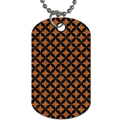 CIRCLES3 BLACK MARBLE & RUSTED METAL Dog Tag (One Side)