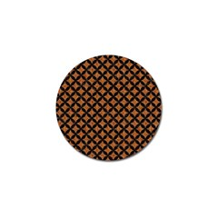 Circles3 Black Marble & Rusted Metal Golf Ball Marker (4 Pack) by trendistuff
