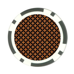 Circles3 Black Marble & Rusted Metal Poker Chip Card Guard by trendistuff