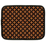 CIRCLES3 BLACK MARBLE & RUSTED METAL Netbook Case (XL)  Front
