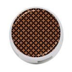 CIRCLES3 BLACK MARBLE & RUSTED METAL 4-Port USB Hub (Two Sides)  Back