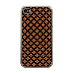 CIRCLES3 BLACK MARBLE & RUSTED METAL Apple iPhone 4 Case (Clear)