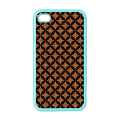 CIRCLES3 BLACK MARBLE & RUSTED METAL Apple iPhone 4 Case (Color)