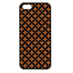 CIRCLES3 BLACK MARBLE & RUSTED METAL Apple iPhone 5 Seamless Case (Black)