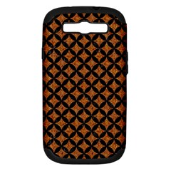 CIRCLES3 BLACK MARBLE & RUSTED METAL Samsung Galaxy S III Hardshell Case (PC+Silicone)