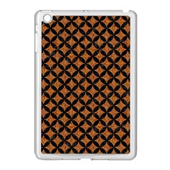 Circles3 Black Marble & Rusted Metal Apple Ipad Mini Case (white) by trendistuff