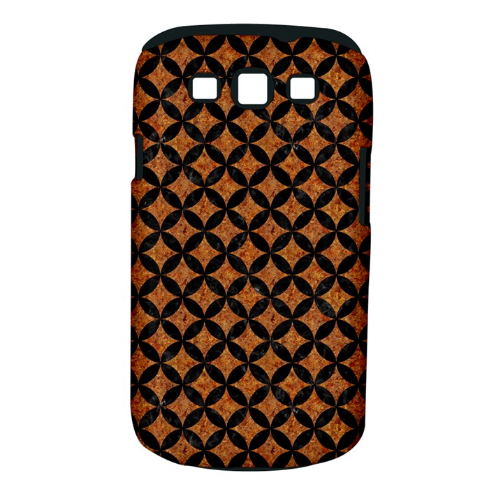 CIRCLES3 BLACK MARBLE & RUSTED METAL Samsung Galaxy S III Classic Hardshell Case (PC+Silicone)
