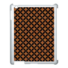 Circles3 Black Marble & Rusted Metal Apple Ipad 3/4 Case (white) by trendistuff