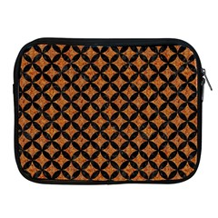 CIRCLES3 BLACK MARBLE & RUSTED METAL Apple iPad 2/3/4 Zipper Cases