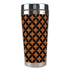 Circles3 Black Marble & Rusted Metal Stainless Steel Travel Tumblers by trendistuff