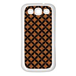 CIRCLES3 BLACK MARBLE & RUSTED METAL Samsung Galaxy S3 Back Case (White) Front