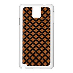 CIRCLES3 BLACK MARBLE & RUSTED METAL Samsung Galaxy Note 3 N9005 Case (White)