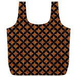 CIRCLES3 BLACK MARBLE & RUSTED METAL Full Print Recycle Bags (L)  Front