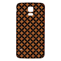 CIRCLES3 BLACK MARBLE & RUSTED METAL Samsung Galaxy S5 Back Case (White)
