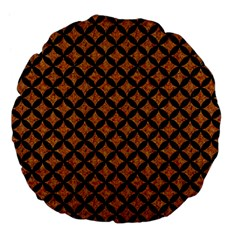 Circles3 Black Marble & Rusted Metal Large 18  Premium Flano Round Cushions by trendistuff