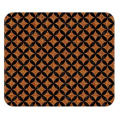 CIRCLES3 BLACK MARBLE & RUSTED METAL Double Sided Flano Blanket (Small)