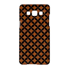 CIRCLES3 BLACK MARBLE & RUSTED METAL Samsung Galaxy A5 Hardshell Case